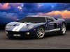 Painted in Sonic Blue with Centennial White Racing Stripes, this one-of -a kind, 2005 Ford GT will be auctioned on September 10, 2005 at the American Cancer Society Cattle Baron's Ball. One lucky bidder will be given the opportunity to take home this incredible piece of automotive history signed by Ford Motor Company Chief Executive Officer William Clay Ford, Jr. and Ford GT Chief Designer Camilo Pardo. The event, sponsored by Ford Motor Company, will be held at the Michigan State Fair Grounds Coliseum. For more information on offsite bidding opportunities or event tickets, please contact the American Cancer Society metro Detroit office at 248.483.4333.
