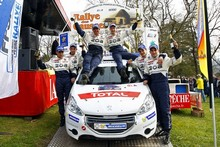 Rallye - Terre des Causses : Victoire et podium en 208 RC pour Saintéloc Racing