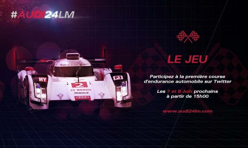 Audi et les 24 heures du Mans … sur Twitter