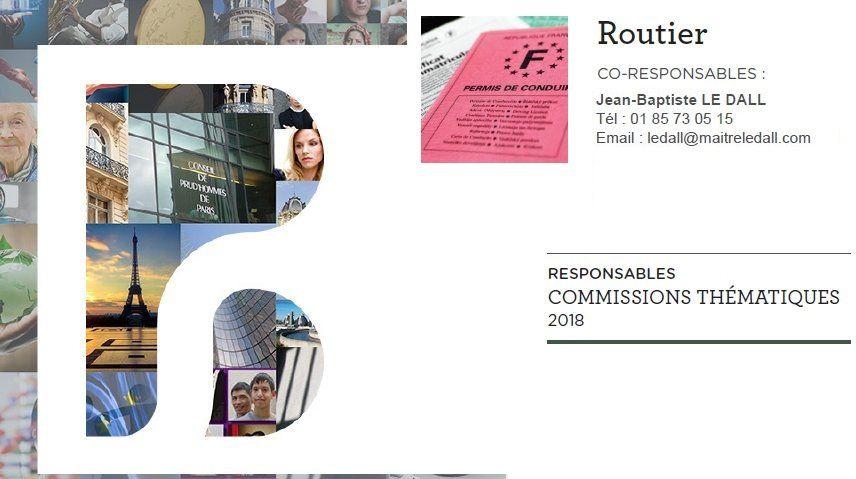 Création de la Commission ouverte Droit routier au sein du Barreau de Paris