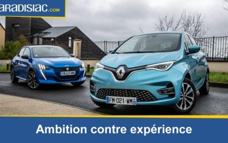 Comparatif Renault Zoé VS Peugeot e 208 : l'expérience rencontre l'ambition