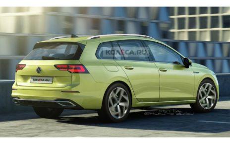Kolesa imagine la future Volkswagen Golf SW 2020