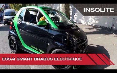 Essai de la Smart Brabus électrique - Mondial Auto de Paris 2014