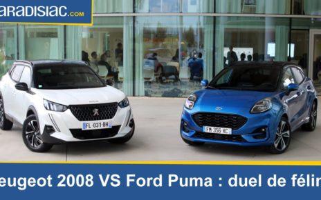 Comparatif - Peugeot 2008 VS Ford Puma : duel de félins