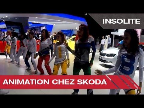 Animation chez Skoda - Mondial Auto de Paris 2014