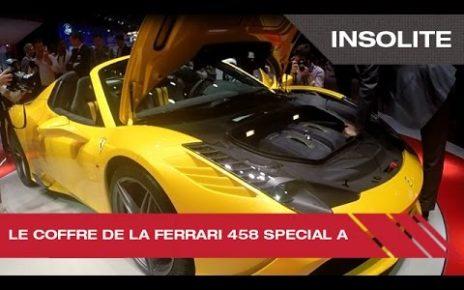 Le coffre de la Ferrari 458 Special A - Mondial Auto de Paris 2014