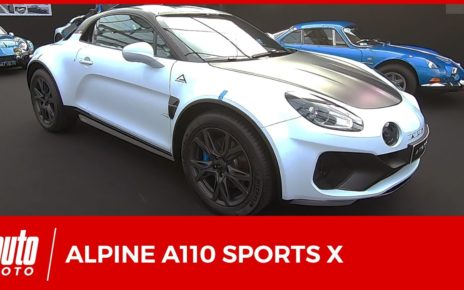 Nouvelle Alpine A110 SportsX : la Berlinette se décline en SUV