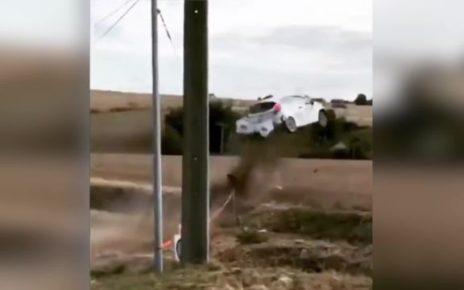 Le spectaculaire accident de Lucas Zielinski en vidéo - Rallye