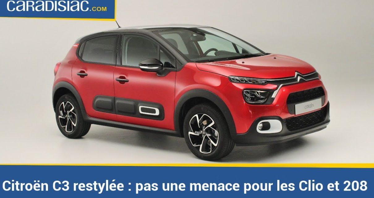 Citroën C3 restylée : elle ne fera pas d'ombre aux Clio et 208