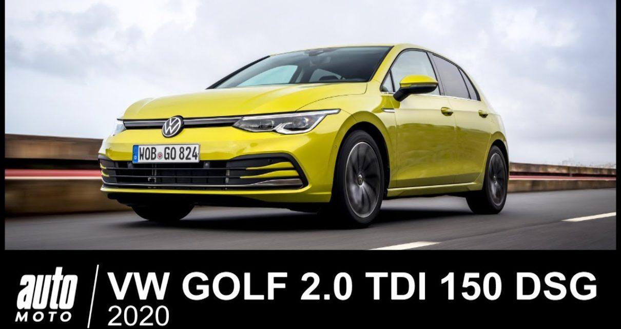 2020 VW GOLF 2.0 TDI 150 Style ESSAI POV Auto-Moto.com