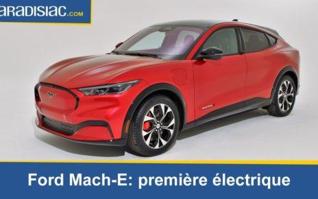 Présentation - Ford Mach E : première électrique