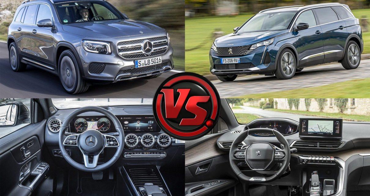 Comparatif des grands SUV 7-places Peugeot 5008 BlueHDi 180 et Mercedes GLB 200d