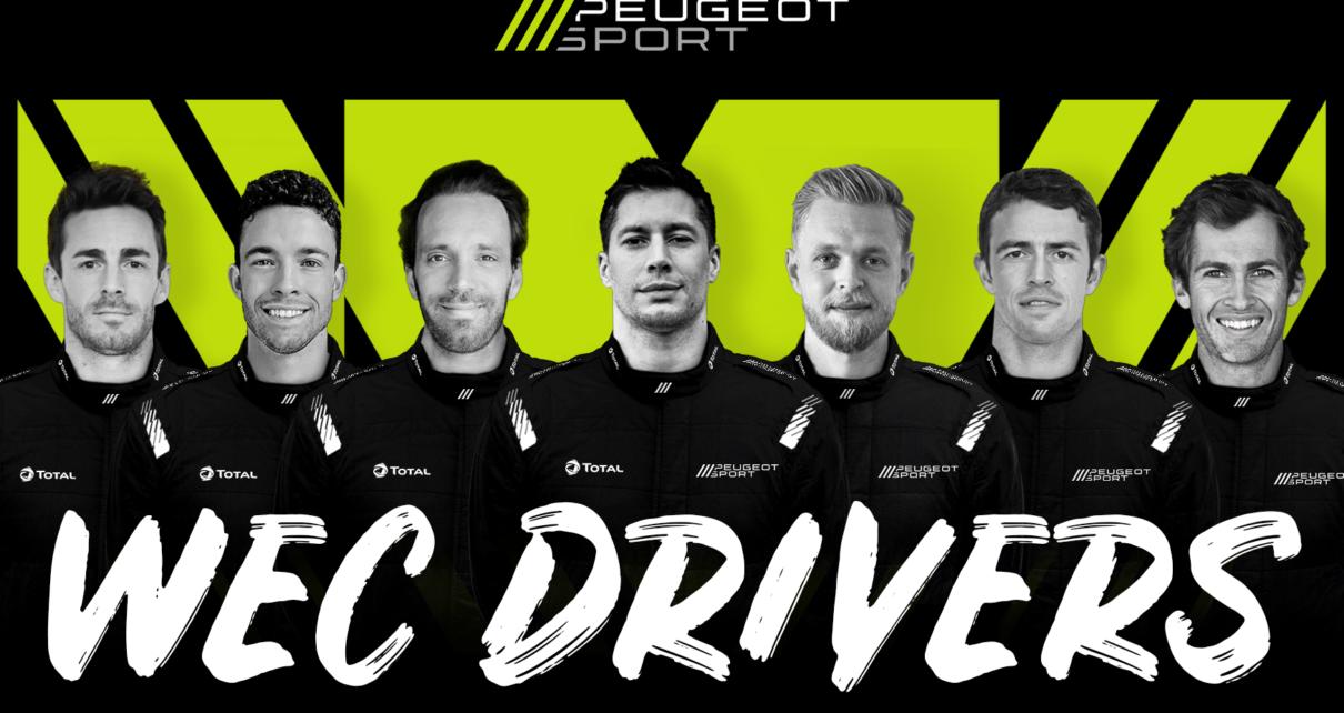 Les 7 pilotes Peugeot pour les 24H du Mans 2022