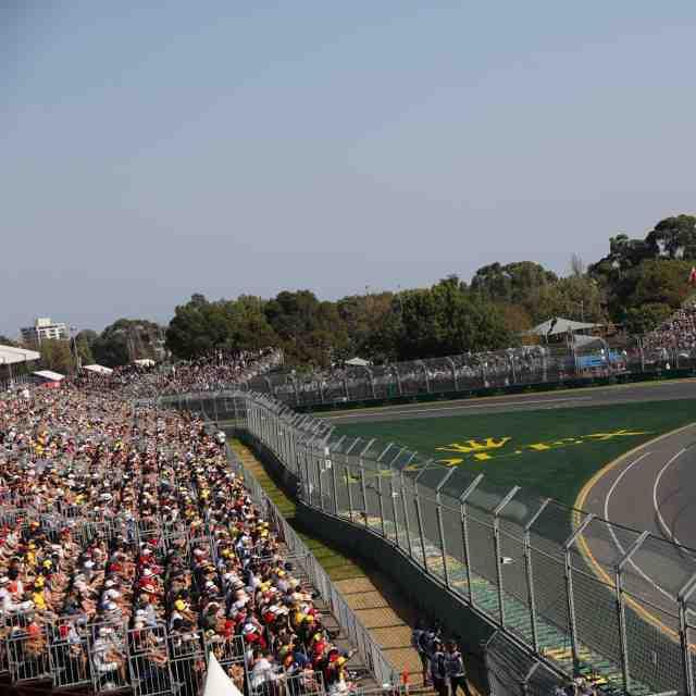 Le circuit de Melbourne en travaux
