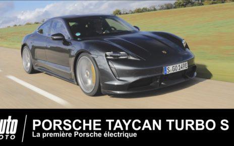 Porsche électrique Taycan Turbo S ESSAI Français AUTO-MOTO.COM