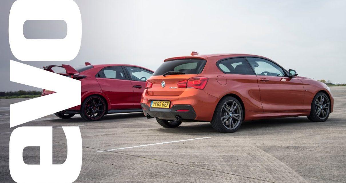 Honda Civic Type R vs BMW M135i - Which is fastest? | evo DRAG BATTLE