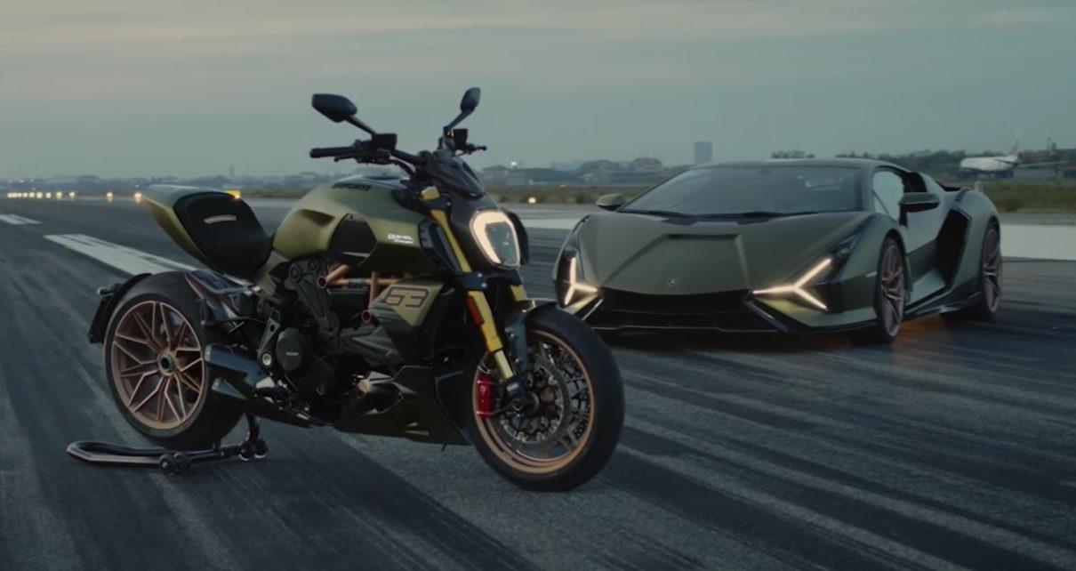 une moto née de la Lamborghini Siàn FKP 37