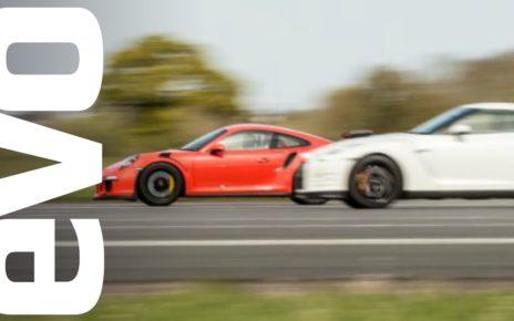 Nissan GT-R vs Porsche 911 GT3 RS - which is fastest? | evo DRAG BATTLE