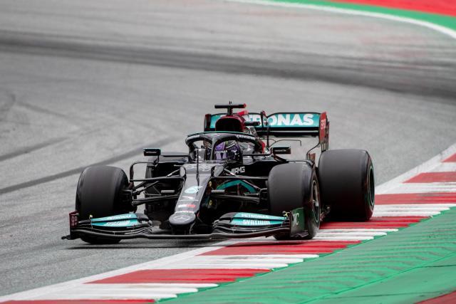 De gros dégâts sur la voiture de Lewis Hamilton au GP d'Autriche