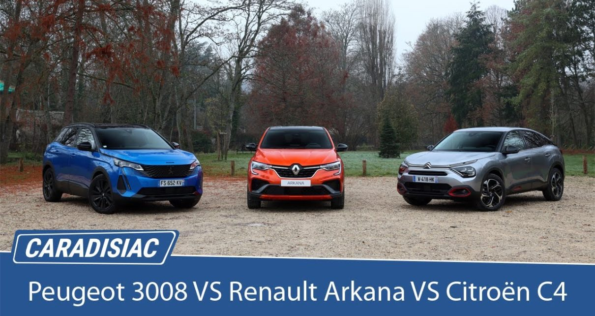 Comparatif : Citroën C4 VS Peugeot 3008 VS Renault Arkana : première confrontation statique