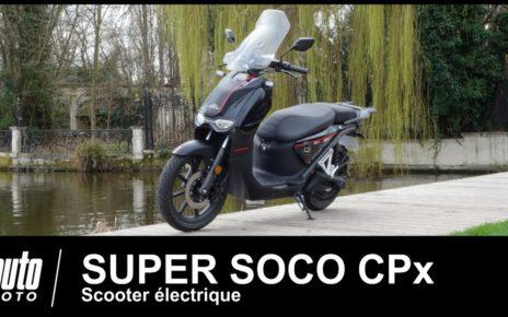 SUPER SOCO CPX scooter électrique 1er ESSAI POV Auto-Moto.com