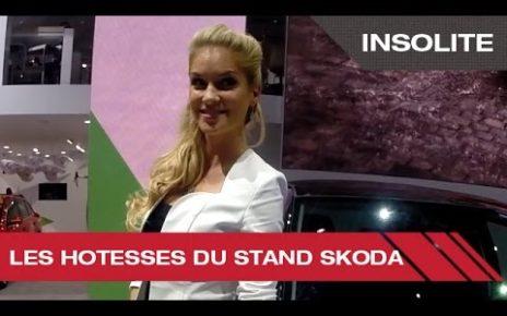 Les hôtesses du stand Skoda - Mondial Auto de Paris 2014