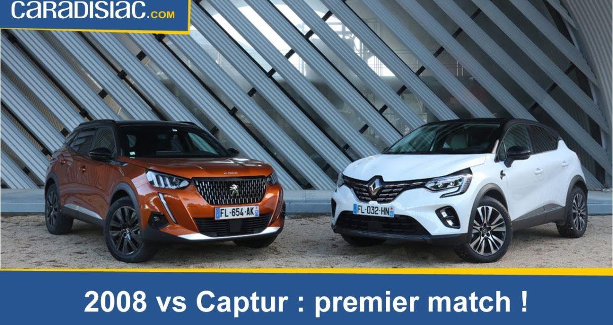Comparatif - Peugeot 2008 vs Renault Captur 2019 : le french kiff