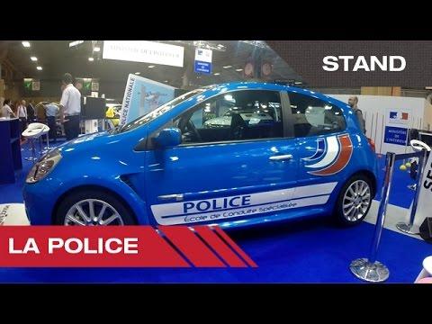 Stand de la Police française - Mondial Auto de Paris 2014
