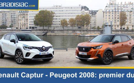 Première rencontre pour le nouveau Peugeot 2008 (2020) et le nouveau Renault Captur (2020)