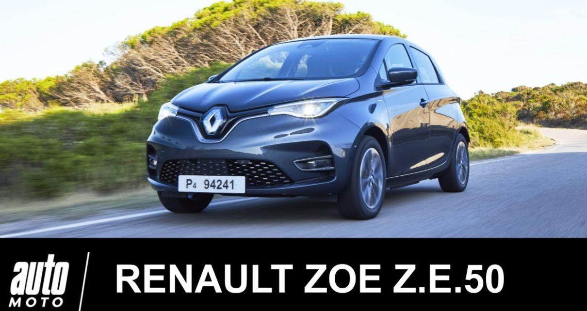 RENAULT ZOE Z.E 50 2019 ESSAI Français Auto-Moto.com