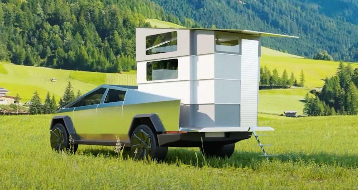 Ce Cybertruck a été transformé en camping-car !