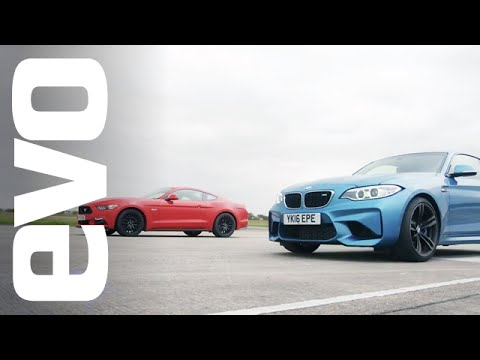 Ford Mustang 5.0 GT vs BMW M2 - Which is fastest?   evo DRAG BATTLE
