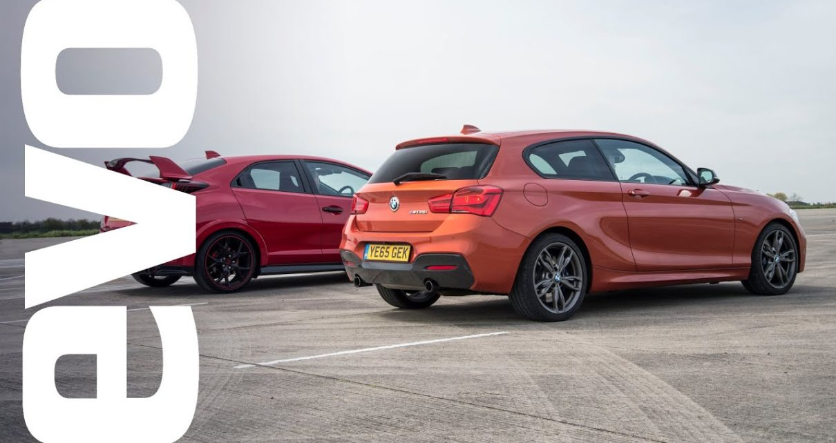 Honda Civic Type R vs BMW M135i - Which is fastest?   evo DRAG BATTLE