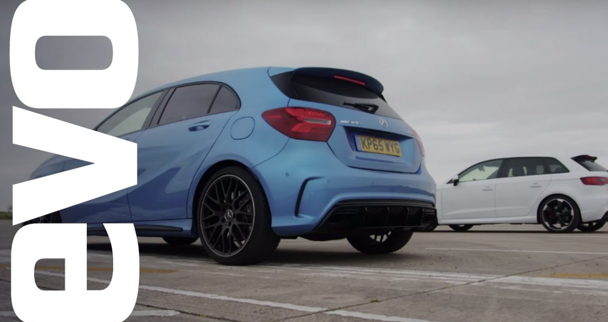 Mercedes A45 AMG vs Audi RS3 - Which is fastest? | evo DRAG BATTLE