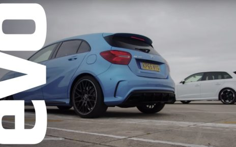 Mercedes A45 AMG vs Audi RS3 - Which is fastest?   evo DRAG BATTLE
