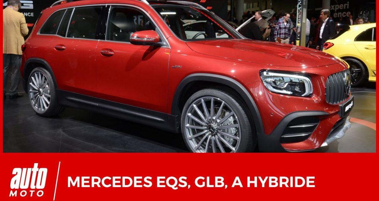 Salon de Francfort : les nouveautés Mercedes (EQS Vision, GLB, GLE Coupé, A 250e)