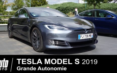 2019 TESLA MODEL S Grande Autonomie 1er ESSAI français Lyon-Paris.