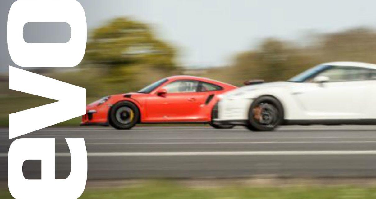 Nissan GT-R vs Porsche 911 GT3 RS - which is fastest?   evo DRAG BATTLE