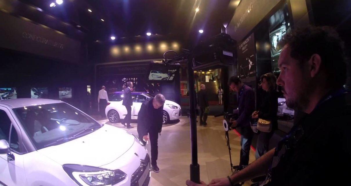 Insolite - Dominique Chapatte en plein tournage chez Citroën - Mondial Auto de Paris 2014