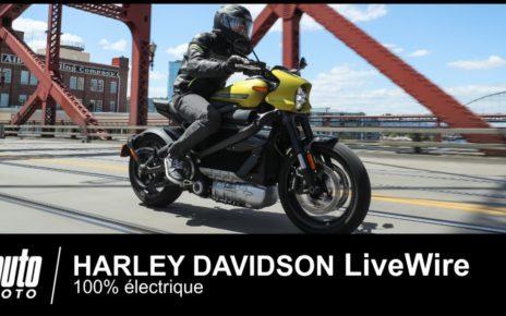 Harley Davidson LiveWire Electrique 1er ESSAI Français AUTO-MOTO.COM