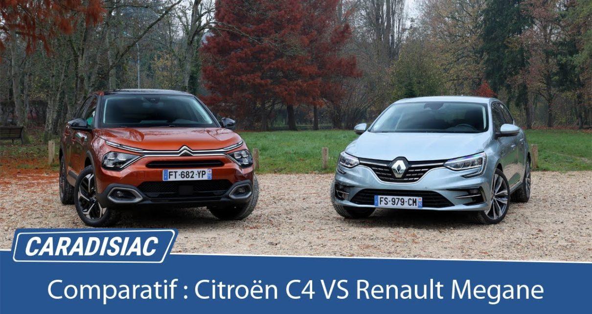 Comparatif - Citroën C4 VS Renault Mégane : comme on se retrouve