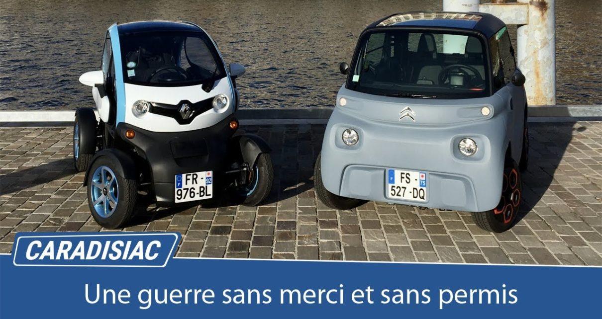 Comparatif - Citroën AMI vs Renault Twizy 45 : une guerre sans merci et sans permis