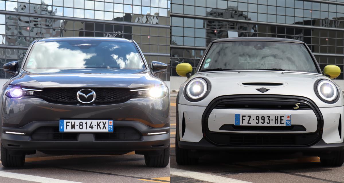 Mazda MX-30 ou Mini Cooper SE restylée : laquelle choisir ?
