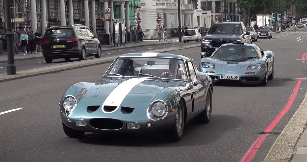 Une McLaren F1 et une Ferrari 250 GTO en pleine rue ! (vidéo)