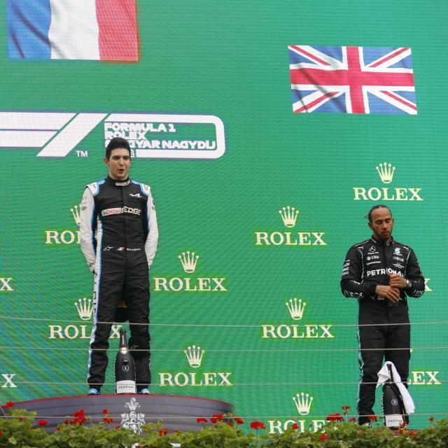 Lewis Hamilton félicite Esteban Ocon pour sa victoire au Grand Prix de Hongrie