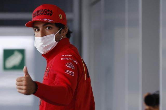 Carlos Sainz (Ferrari), 2e sur la grille du GP de Russie: «J'espère prendre un meilleur départ que Norris»